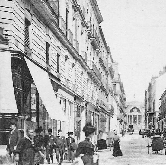 Rue Lafayette - Dans le fond le Palais de Justice