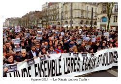 9 janvier 2015 -Les Nantais sont tous Charlie