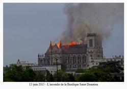 15 juin 2015 - L'incendie de la Basilique Saint-Donatien