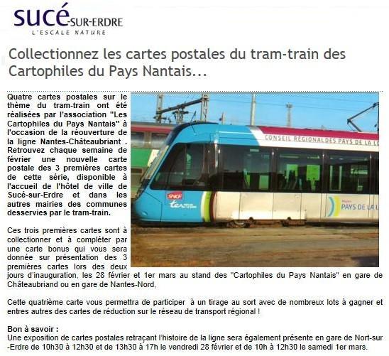 Suce sur erdre tram train