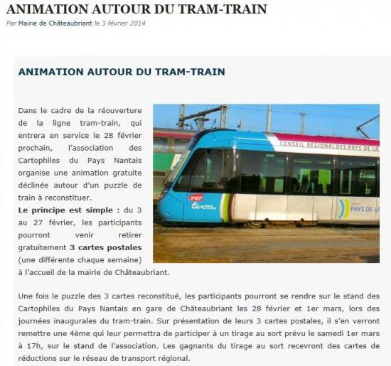 Animation autour du tram-train